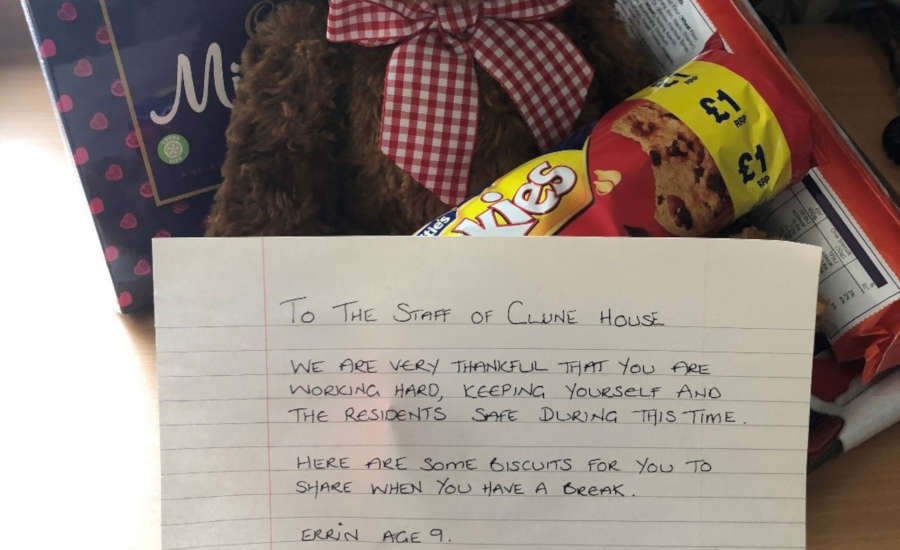 Clune House thank you gift and note