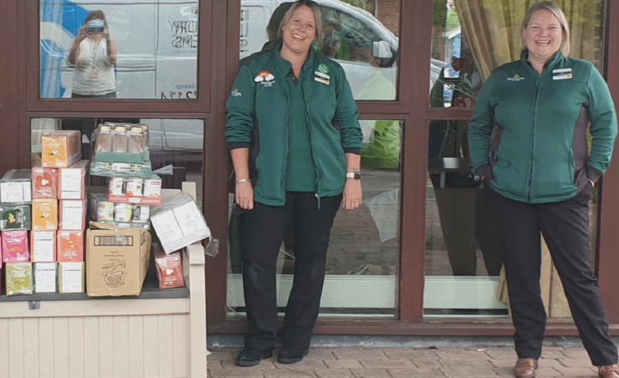 Two female staff from Morrisons