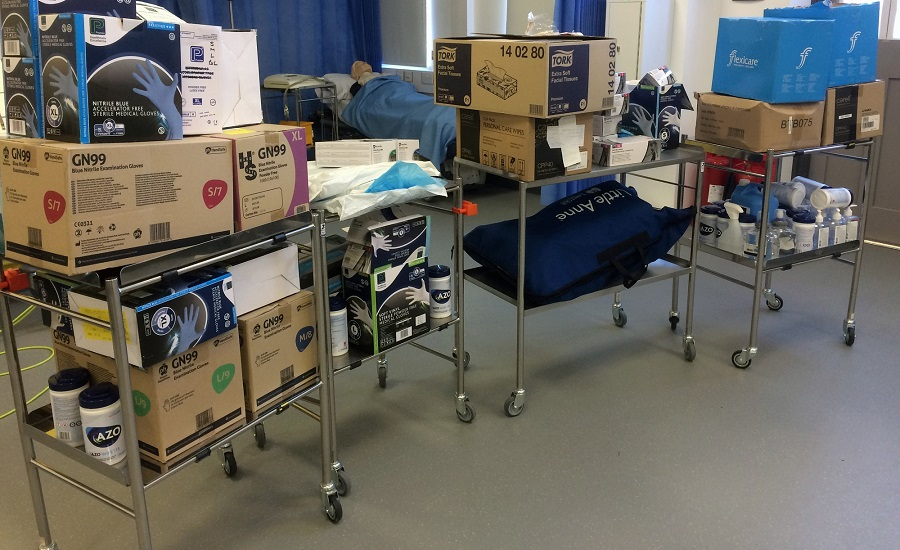 Medical supplies at hospital